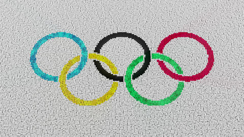 4K Olympic Games Logo Reveal Footage