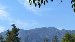 San Gabriel Mountains and blue sky Footage