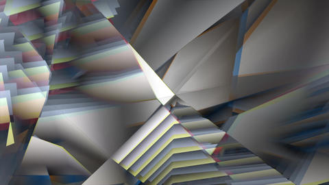 Triangle wavy wall Animation
