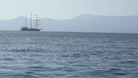 Sailing vessel anchored 1 Live Action