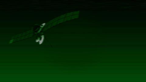Scanning telecommunication satellite Animation