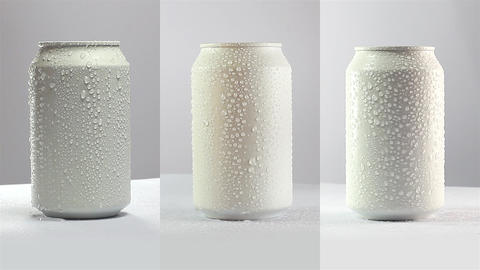 Mockup of can on white. Loopable Footage