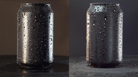 Mockup Of Can On Black. Loopable Footage