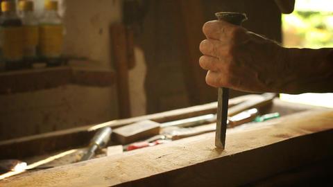 Carpenter's workshop Footage