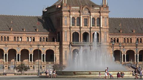 Water Fountain And Spanish Palace Live Action