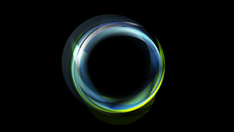 Concept neon iridescent corporate ring video animation Animation