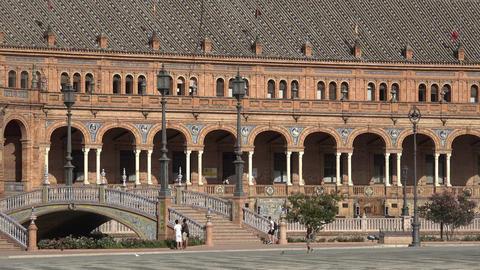 Tourists At Spanish Royal Palace Live Action