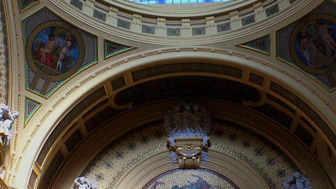 The ceiling Bath Szechenyi in Budapest Live Action