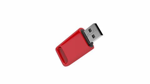 Red usb stick Animation