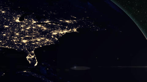 Planet Earth - Dawn Breaks Over America Stock Video Footage