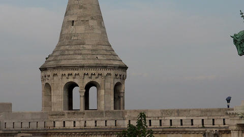 Fishermen's Bastion in Budapest Footage
