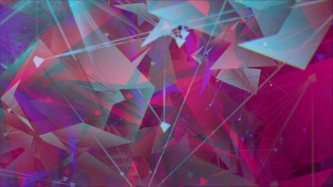 Floating polar crystals background 3 Animation