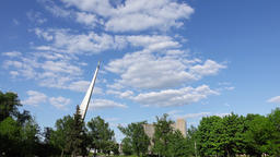 Monument to the Conquerors of Space at Cosmopark, time lapse shot Footage