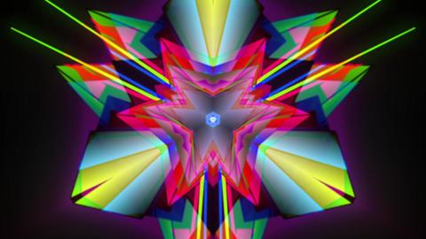 Triangular Kaleidoscopic Pattern Stock Video Footage