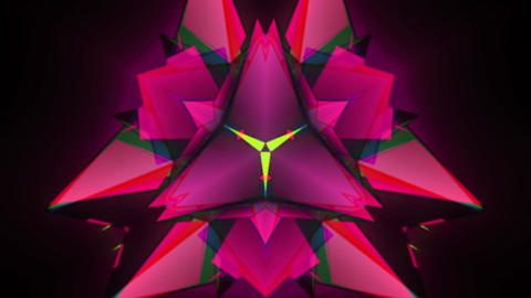 Triangular Kaleidoscopic Pattern Animation