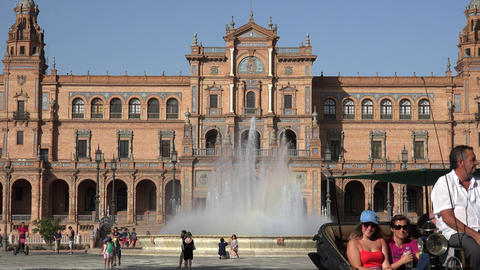 Horse Drawn Carriage At Spanish Palace Footage
