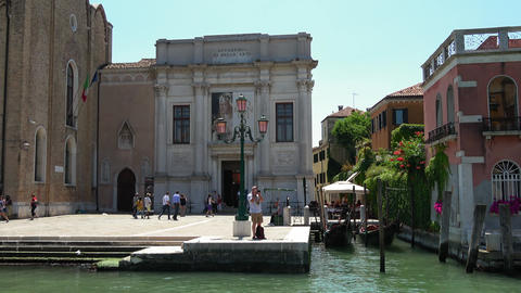 Academy of Fine Arts in Venice - located at Grand Canal Footage