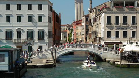 Riva dei Schiavoni pedestrian Bride in Venice San Marco Footage