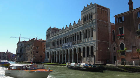 National History Museum in Venice Italy Footage