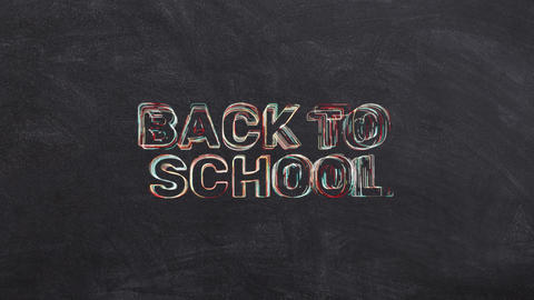 Animation With Back To School Text Animation