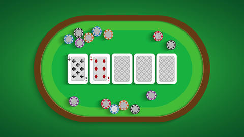 Poker table with a combination of eight low Live Action