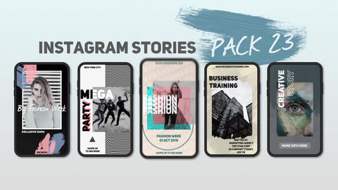 Instagram Stories Pack 23 After Effectsテンプレート