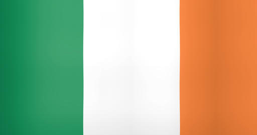 Waving Flag of Ireland Looping Background Live Action