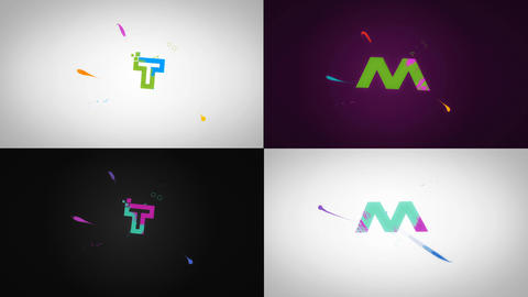 Creative Splash Lines Logo Reveal After Effects Template