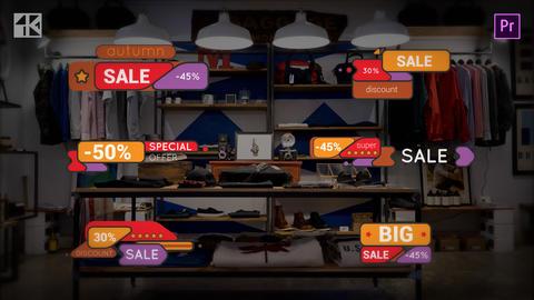 Titles Sale 4K 모션 그래픽 템플릿