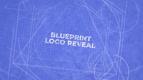 Blueprint Logo Reveal Apple Motion Template