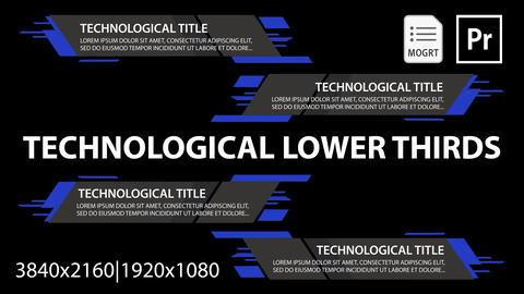 Technological Lower Thirds Plantillas de Motion Graphics