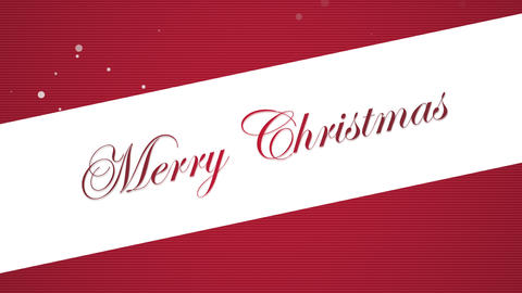 Animated close up Merry Christmas text on red background Videos animados