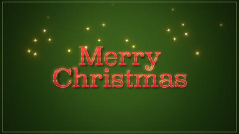 Animated closeup Merry Christmas text on green background Videos animados