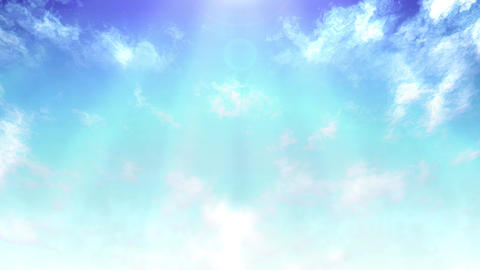 Mov148 cloud flare sky loop 01 CG動画