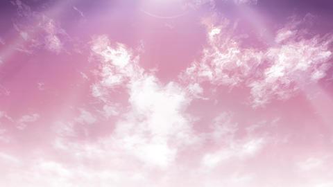 Mov148 cloud flare sky loop 06 CG動画