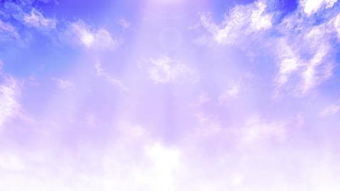 Mov148 cloud flare sky loop 09 CG動画