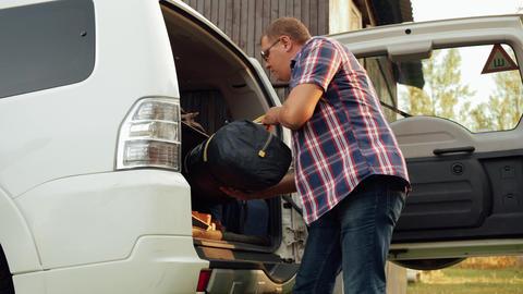 Car Man Luggage Road Trip Preparation Big Trunk Live Action