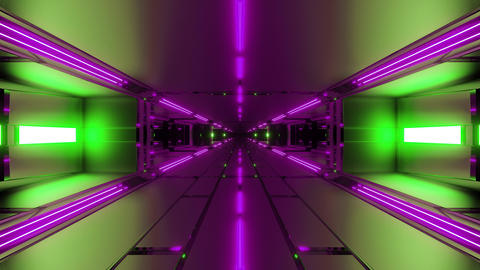 dark futuristic space tunnel corridor 3d rendering live wallpaper motion Animation