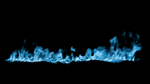 blue Fire flame loop animation Animation