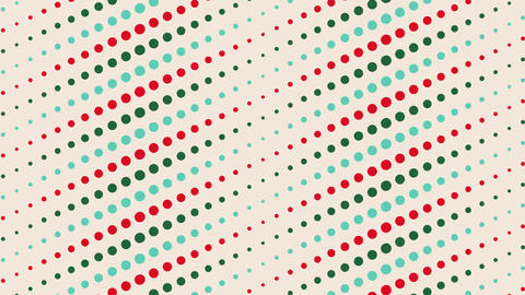 4K dot , vector vintage pattern, looped animated background for a party, holiday, Christmas, 4th Animation