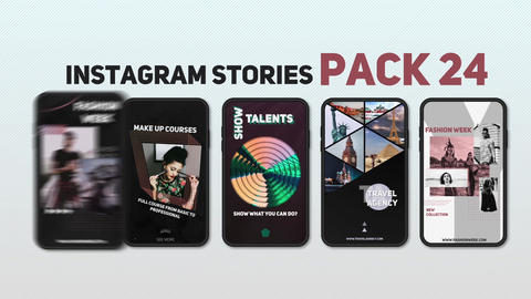 Instagram Stories Pack 24 After Effects Template