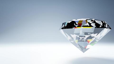 Diamond on white text space CG動画