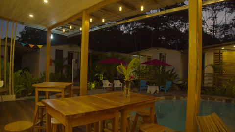 Beautiful Rustic Lodge At Sunset In The Ecuadorian Amazon Live Action