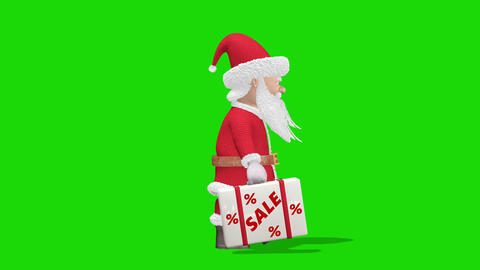 """Santa Claus carries a suitcase with the words """"Sale"""". Christmas sale concept Live Action"""