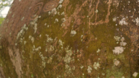 Sacred Stones Carved In An Indigenous Community Footage