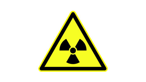 animated radioactivity warning signal Live Action