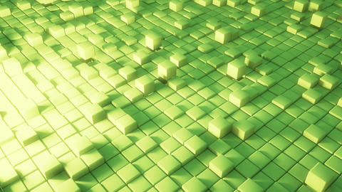 green cube abstract background (Loop) Animation