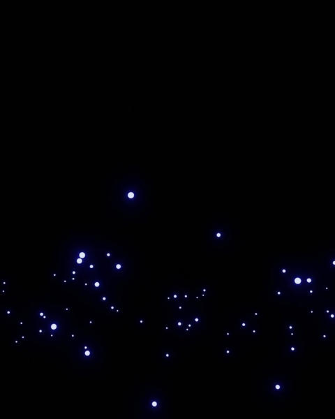 パーティクル 星 下から上へ 縦長動画用 1080px*1350px CG動画