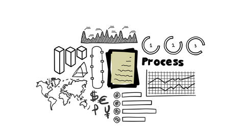 Isolated Hand Drawn stack of documents Icon Animation