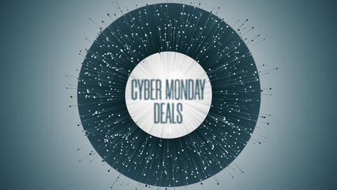 Modern Animation With Cyber Monday Deals Text GIF